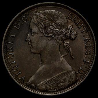 1861 Queen Victoria Bun Head Penny Obverse