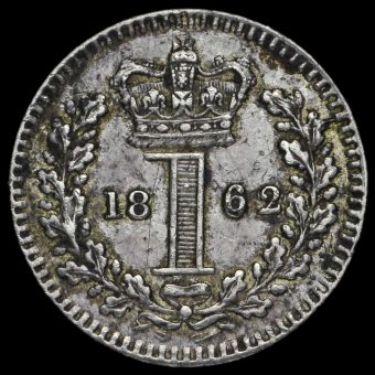 1862 Queen Victoria Young Head Silver Maundy Penny Reverse