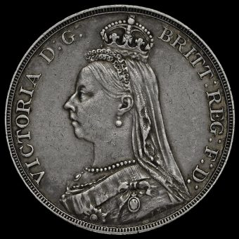 1890 Queen Victoria Jubilee Head Silver Crown Obverse