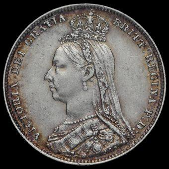 1892 Queen Victoria Jubilee Head Silver Shilling Obverse
