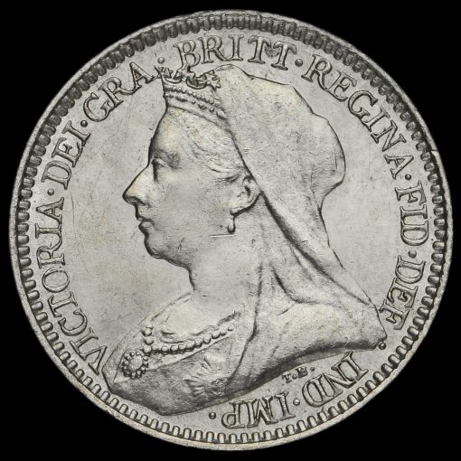 1896 Queen Victoria Veiled Head Silver Maundy Twopence Obverse