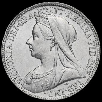 1897 Queen Victoria Veiled Head Silver Florin Obverse