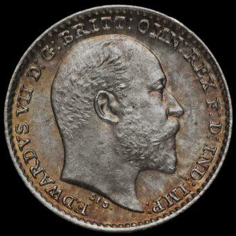 1904 Edward VII Silver Maundy Penny Obverse