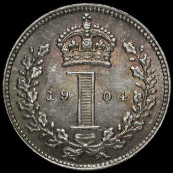 1904 Edward VII Silver Maundy Penny Reverse