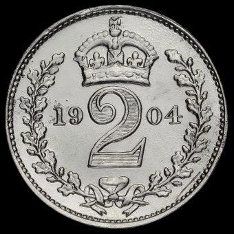 1904 Edward VII Silver Maundy Twopence Reverse