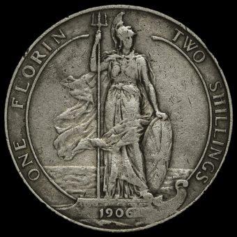 1906 Edward VII Florin Reverse