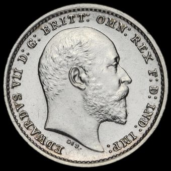 1906 Edward VII Silver Maundy Twopence Obverse