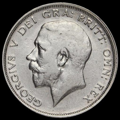 1914 George V Silver Half Crown Obverse