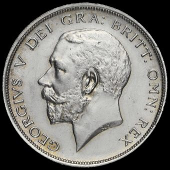 1914 George V Silver Half Crown Obverse