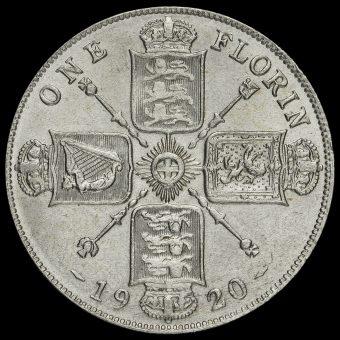 1920 George V Silver Florin Reverse