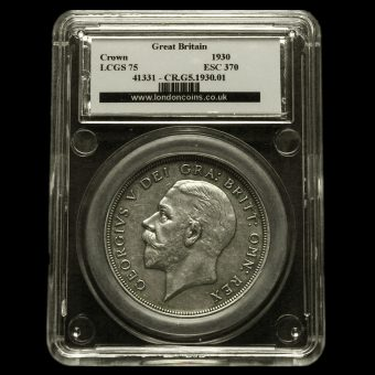 1930 George V Silver Wreath Crown LCGS 75