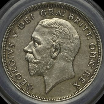 1930 George V Silver Wreath Crown Obverse