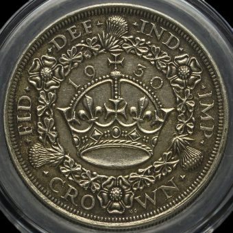 1930 George V Silver Wreath Crown Reverse