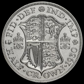 1930 George V Silver Half Crown Reverse