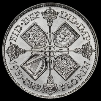 1931 George V Silver Florin Reverse