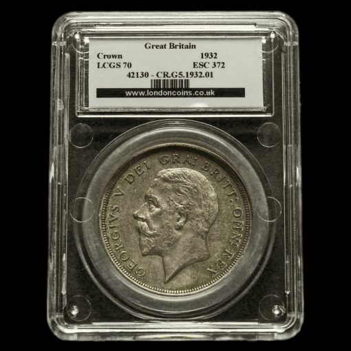1932 George V Silver Wreath Crown LCGS 70