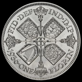 1936 George V Silver Florin Reverse
