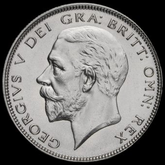 1936 George V Silver Half Crown Obverse