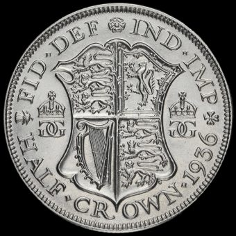 1936 George V Silver Half Crown Reverse