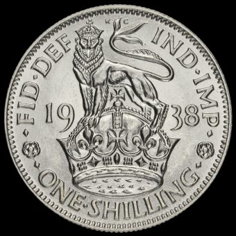 1938 George VI Silver English Shilling Reverse