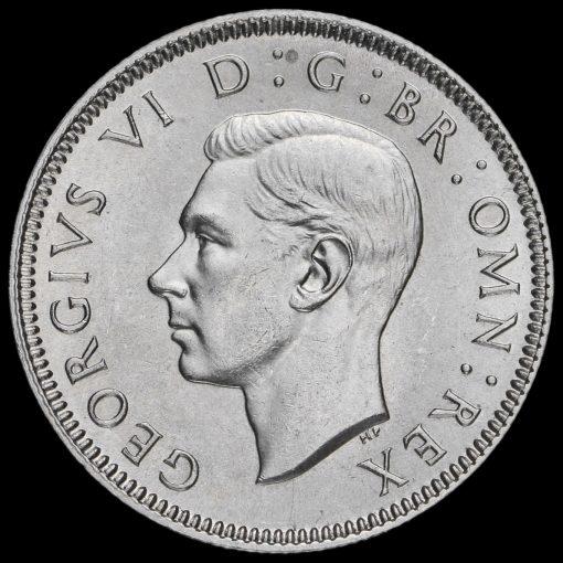 1938 George VI SilverScottish Shilling Obverse