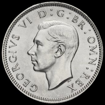 1938 George VI Silver Scottish Shilling Obverse