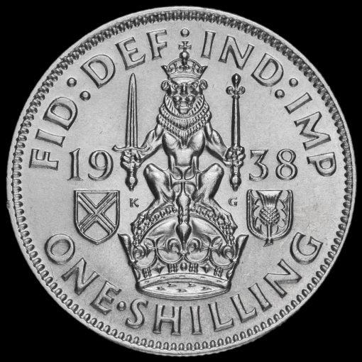 1938 George VI SilverScottish Shilling Reverse