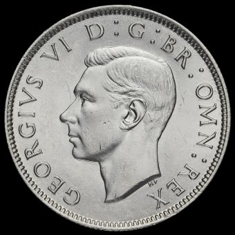 1943 George VI Silver Two Shilling Coin / Florin Obverse