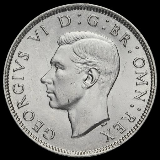 1943George VI Silver Two Shilling Coin / Florin Obverse