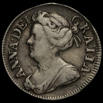 1713 Queen Anne Early Milled Silver Maundy Twopence Obverse