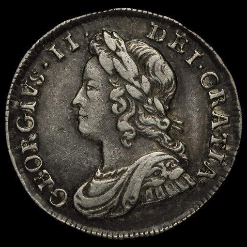 1746/3 George II Early Milled Silver Maundy Threepence Obverse