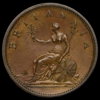 1806 George III Early Milled Copper Penny Reverse