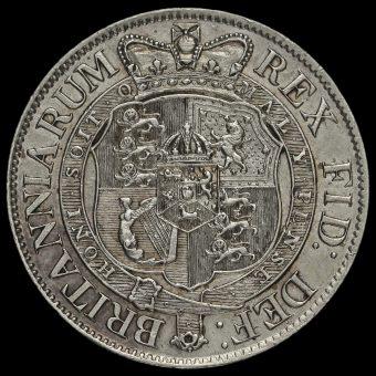 1820 George III Milled Silver Half Crown Reverse