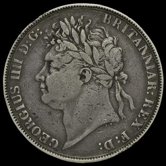 1822 George IV Milled Silver Secundo Crown Obverse