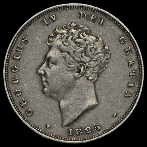1825 George IV Milled Silver Shilling Obverse
