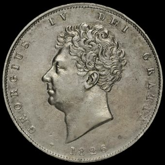 1826 George IV Milled Silver Half Crown Obverse