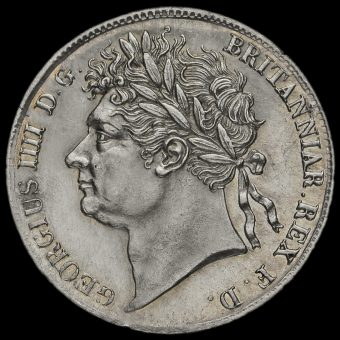1827 George IV Milled Silver Maundy Fourpence Obverse