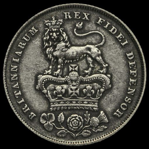 1829 George IV Milled Silver Shilling Reverse