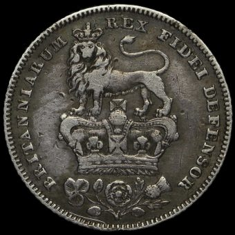 1829 George IV Bare Head Milled Silver Sixpence Reverse