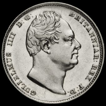 1831 William IV Milled Silver Sixpence Obverse