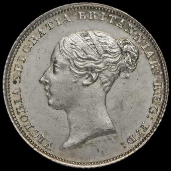 1841 Queen Victoria Young Head Silver Sixpence Obverse