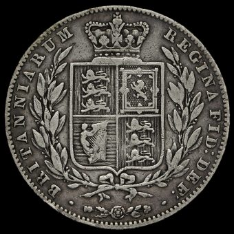 1842 Queen Victoria Young Head Silver Half Crown Reverse
