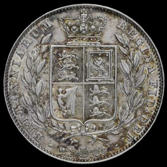 1844 Queen Victoria Young Head Silver Half Crown Reverse