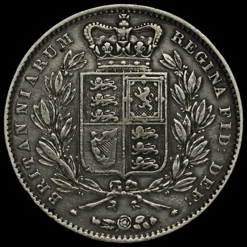 1845 Queen Victoria Young Head Silver Crown Reverse