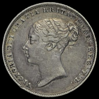 1852 Queen Victoria Young Head Silver Sixpence Obverse