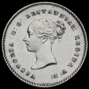 1869 Queen Victoria Young Head Silver Maundy Twopence Obverse
