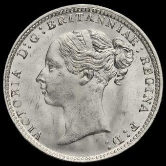 1882 Queen Victoria Young Head Silver Threepence Obverse