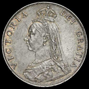 1887 Queen Victoria Jubilee Head Florin Obverse