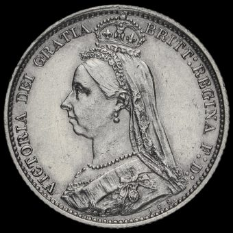 1887 Victoria Jubilee Head Sixpence Obverse
