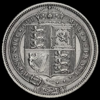 1887 Victoria Jubilee Head Sixpence Reverse